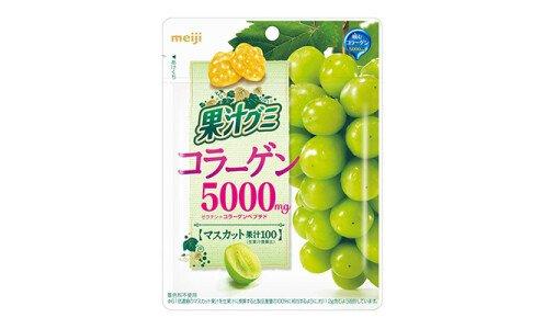 MEIJI Fruits Juice Gummy — обогащенный виноградный мармелад с коллагеном