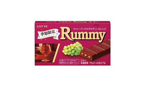 LOTTE Rummy — сезонный шоколад с изюмом, пропитанным ромом.