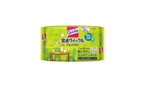 KAO Quickle Shokutaku Wet Cloth  — очищающие влажные салфетки для обеденного стола