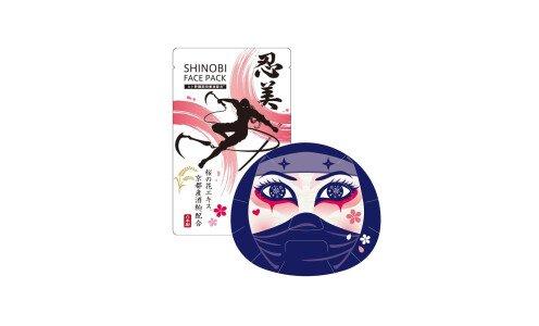 COULEUR LABO SHINOBI Face Pack Kunoichi — увлажняющая маска девушки-ниндзя со стволовыми клетками
