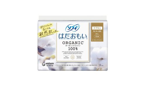 UNICHARM Sofy Hadaomoi Organic Cotton Napkin  —  прокладки без крылышек