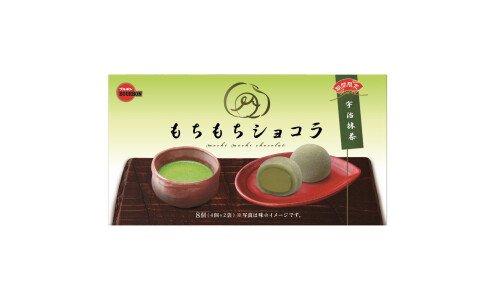 BOURBON Mochimochi Chocolat Uji Matcha — моти-шоколад со вкусом зеленого чая маття