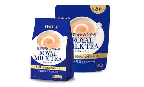 NITTOH Royal Milk Tea — растворимый черный чай с молоком и сахаром.