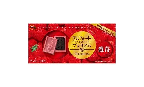 BOURBON Alfort Mini Chocolate Premium Rich Strawberry — клубничный шоколад с печеньем