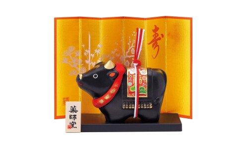 YAKUSHIGAMA Символ года 2021 — черный бык, керамика