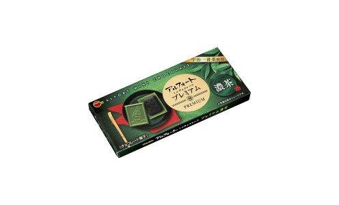 BOURBON Alfort Mini Chocolate Premium Rich Tea — шоколад с зеленым чаем с печеньем