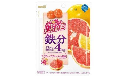 MEIJI Fruits Gummy Iron — обогащенный грейпфрутовый мармелад с железом