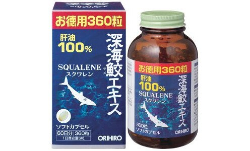 ORIHIRO Squalene  —  сквален,  360 капсул