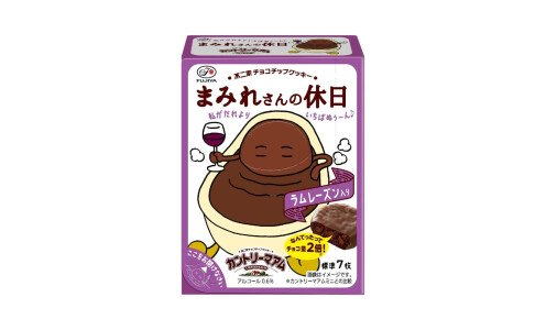FUJIYA Country Ma`am Mamire san no Yasumi — шоколадное печенье в шоколаде с ромовым изюмом