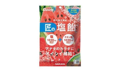 SARAYA Takumi no Shio Ame — арбузные леденцы для восстановления солевого баланса