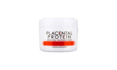 HANAJIRUSHI Placental Protein Medicated Brightening Pack — отбеливающая маска для лица