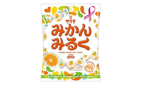 SAKUMA Mikan Milk Candy — хрустящие мандариновые конфеты