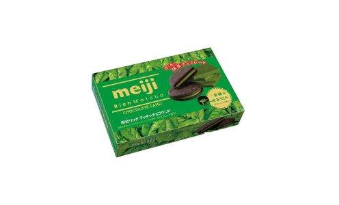 MEIJI Rich Matcha Biscuits — печенье с зеленым шоколадом