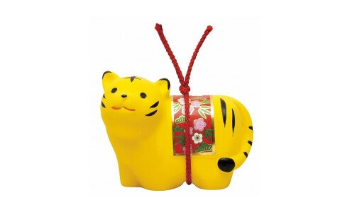 SETO TOGEISHA Символ года 2022 — желтый тигр колокольчик с попоной