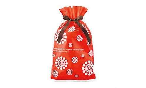 Подарочная упаковка Nordic Red с бантиком (gift bag)