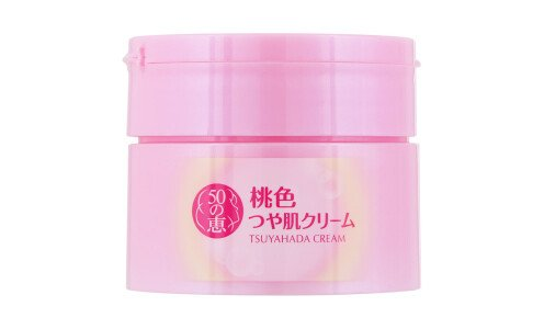 ROHTO Goju no Megumi Momoiro Tsuya Hada Cream — крем цвета персика для глянцевой кожи