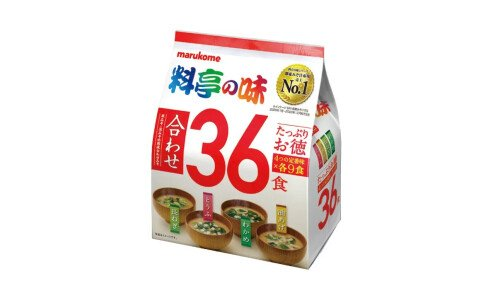 MARUKOME Katei no Aji Misoshiru — набор мисо-супов, супер размер 36 порции