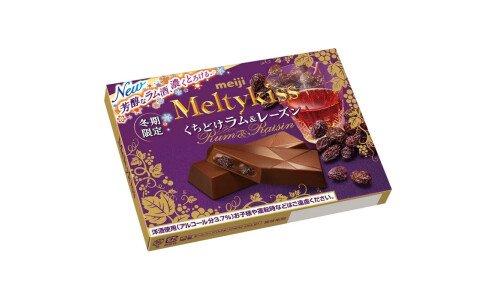 MEIJI Melty Kiss Rum&Raisin — шоколад с ромовым изюмом