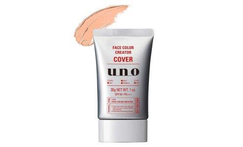 SHISEIDO UNO Face Color Creator Cover — легкий маскирующий Bb крем с защитой от солнца