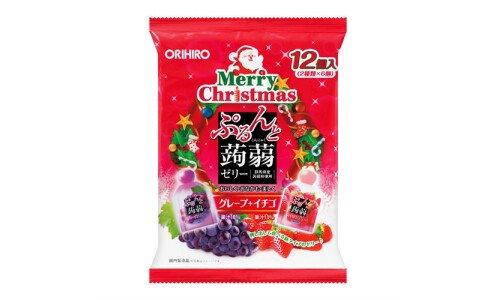 ORIHIRO Purunto Konnyaku Jelly Merry Christmas — порционное желе из конняку