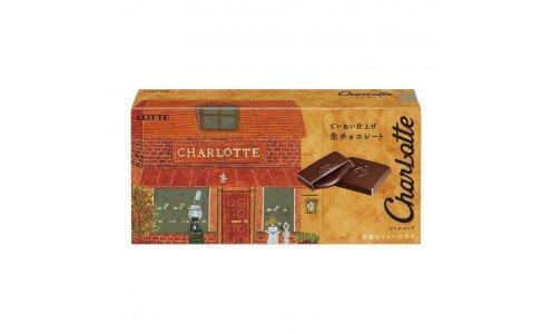 LOTTE Charlotte Nama Chocolate — мини-плитки с начинкой из живого шоколада