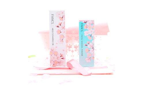 FANCL Sakura Cleansing Set — гидрофильное масло, пудра для умывания и подарочный пакет!