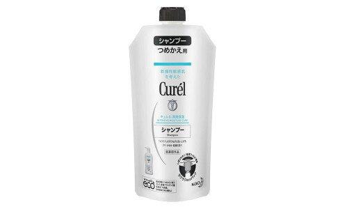KAO Curel shampoo, Medicated — шампунь для чувствительной кожи головы, рефил 340 мл.