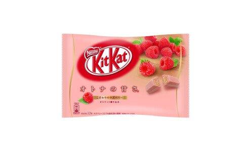 NESTLE Kit Kat Raspberry — вафли с малиновой глазурью