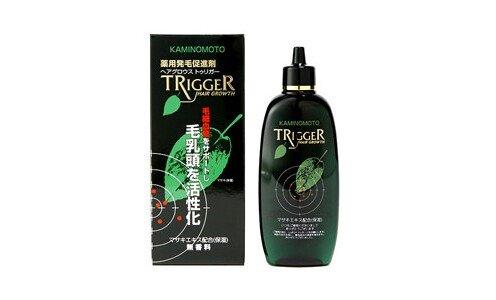 KAMINOMOTO Trigger — лосьон для кожи головы против выпадения волос и для стимуляции роста новых волос.