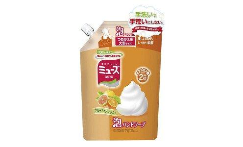 MUSE Foaming Hand Soap Fruity Fresh — антибактериальное мыло для рук с пеной, меняющей цвет, сменный блок 450ml