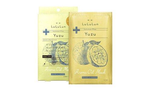 LULULUN Plus Yuzu — маски для лица с ароматом и экстрактом юдзу, 5 шт.