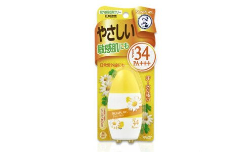 ROHTO Mentholatum Sunplay baby milk — солнцезащитное молочко для малышей SPF 34.