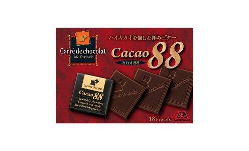 MORINAGA Carre de chocolat Cacao 88 — горький шоколад
