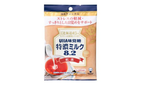 UHA TOKUNO MILK 8.2 Black Tea — молочная карамель с GABA против стресса