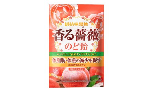 UHA TOKUNO Kaoru Bara — леденцы с розой для поддержки диеты