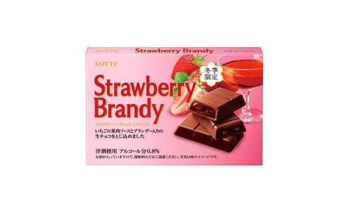 LOTTE Strawberry Brandy — шоколад с бренди и клубникой
