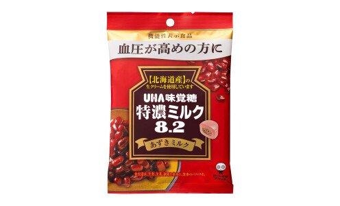 UHA TOKUNO MILK 8.2 Azuki Milk — молочная карамель с адзуки против высокого давления