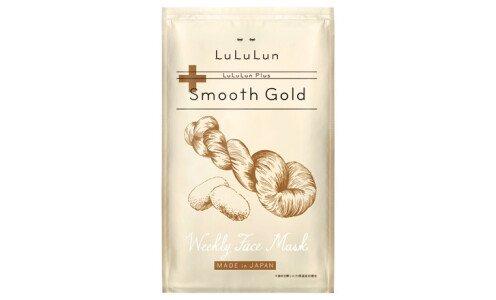 LULULUN Plus Smooth Gold — маски для лица с экстрактами саке и шелка, 1 шт.