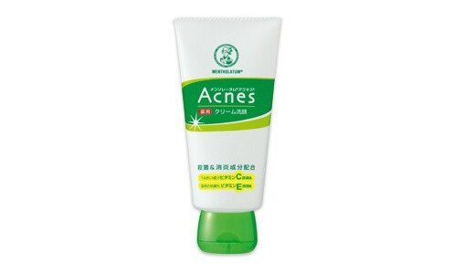 ROHTO Acnes cream face wash, medicated — кремовое средство для умывания.