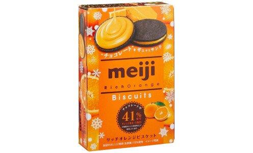 MEIJI Rich Orange Biscuit — печенье с апельсиновым кремом