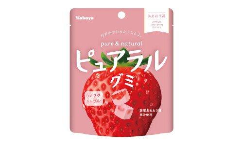 KABAYA Pureral Gummy — фруктовый мармелад со вкусом ананасной клубники