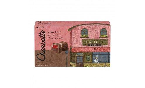 LOTTE Charlotte Strawberry — шоколадные конфеты с клубничным желе и живым шоколадом