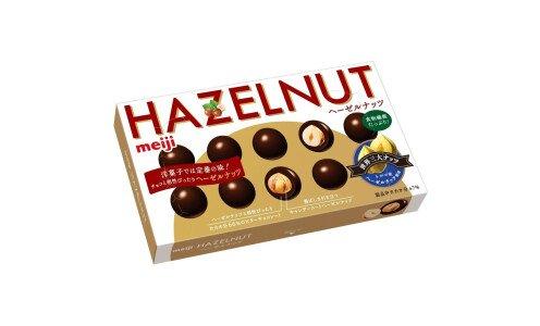 MEIJI Hazelnut Chocolate — фундук в горьком шоколаде