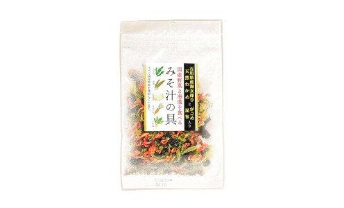 TSUBOKAWA Misoshiru no Gu — сухая смесь овощей и водорослей для мисо-супа