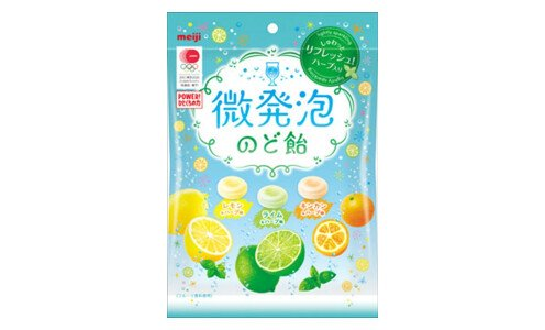 MEIJI Sparkling Candy — шипучие леденцы с травами и фруктовым соком