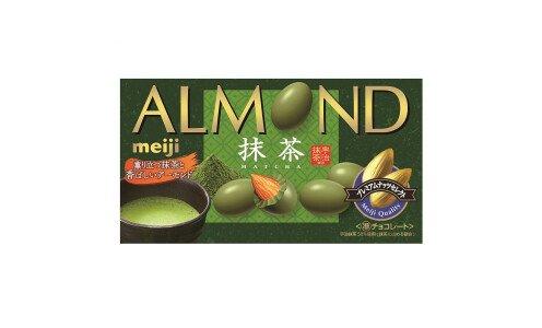 MEIJI Almond Matcha Chocolate — миндаль в зеленом шоколаде