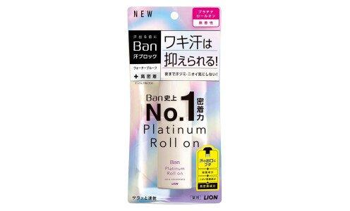 LION Ban Platinum Roll On — влагостойкий дезодорант антиперспирант с длительным действием