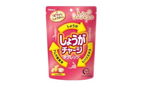 KABAYA Ginger Charge Tablets — сладкое драже с имбирем и аюрведическими экстрактами
