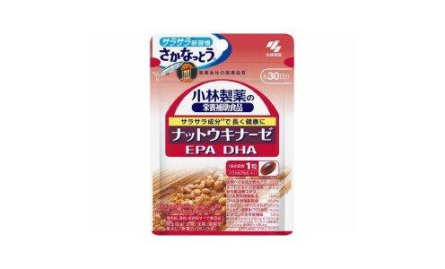 KOBAYASHI Nattokinase EPA DHA — комплекс ферментов натто и омега-кислот