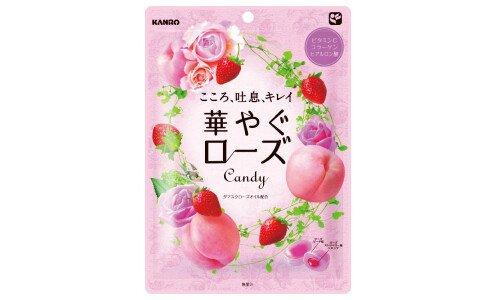KANRO Hanayagu Rose — леденцы с коллагеном и гиалуроновой кислотой
